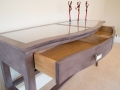 Colour-washed console table. Cleary & Hall Photo R Lee